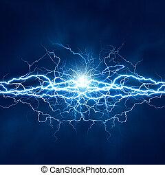 électrique, effet, arrière-plans, résumé, techno, éclairage, conception, ton