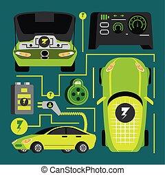 électrique, moderne, voiture