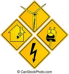 électrique, signe