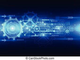 électrique, télécommunications, résumé, ingénierie, vecteur, fond, avenir, technologie
