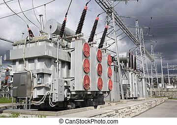 électrique, transformateurs, puissance