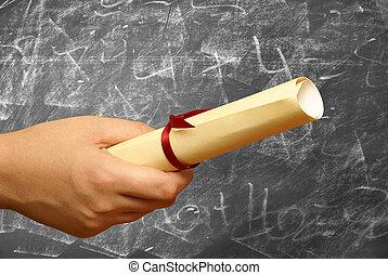 élevé, accomplissements, pédagogique