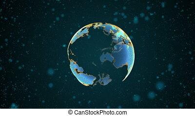 élevé, globe, technologie