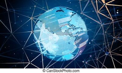 élevé, la terre, technologie