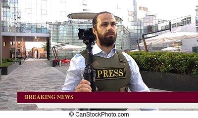 émission, journalist., stringer.