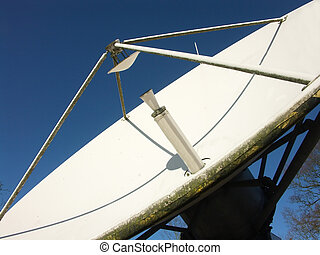 émission, plat, satelite
