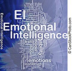 émotif, concept, fond, intelligence