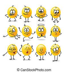 émotions, vecteur, smiley