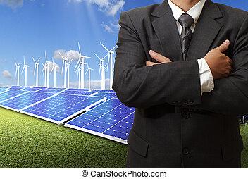 énergie, économie, reussite, homme affaires