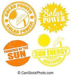 énergie, énergie solaire, timbres
