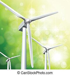énergie, concept, vert