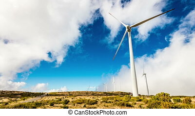 éoliennes, moderne