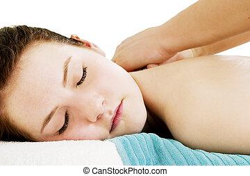 épaule, masage