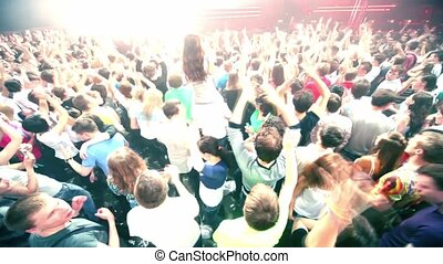 épaules, équipe, dj, gens, armin, délirer, fourgon, girl, assied, buuren, fête, étape