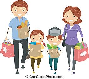 épicerie, famille
