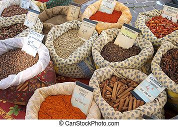 épices, marché