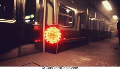 épidémie, métro, covid-19, métro, coronavirus