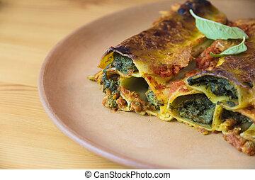 épinards, cannelloni