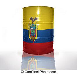 équatorien, baril, drapeau