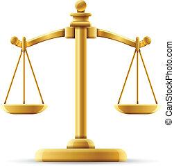équilibré, balance justice