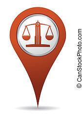équilibre, emplacement, avocat, icône