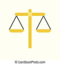 équilibre, justice, vecteur, échelle, droit & loi, icône