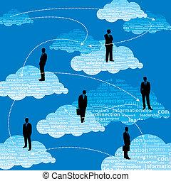 équipe, affaires globales, gens