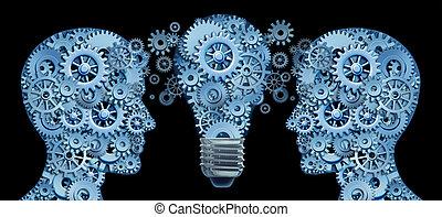 équipe, ensemble, fonctionnement, innovation
