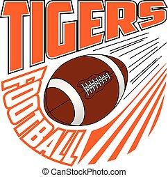 équipe football, tigres, conception