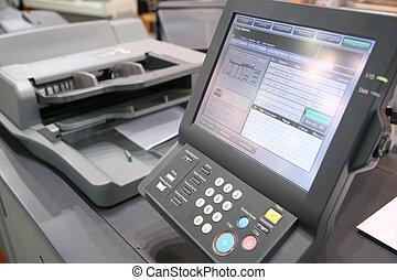 équipement, écran, imprimé