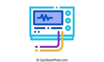 équipement, animation, diagnostic, icône, radio
