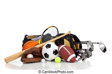 équipement, blanc, sports, fond, assorti