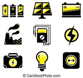 équipement, ensemble, électrique