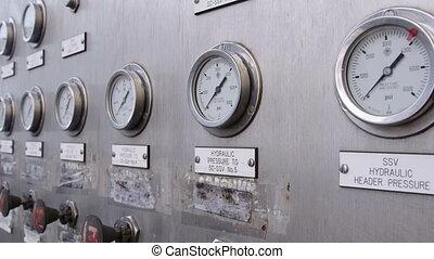 équipement, essence, plate-forme, production, automatisé, mer