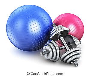 équipement, fitness, sports