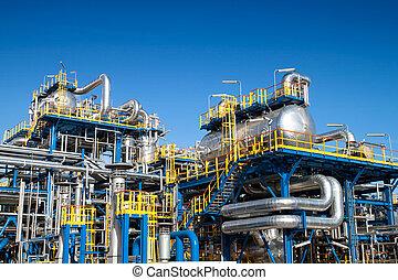 équipement, industrie, huile, installation