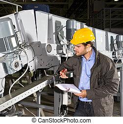 équipement, industriel, chèque