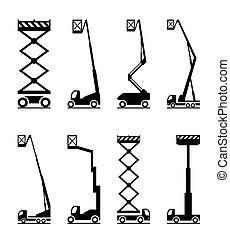 équipement, industriel, levage