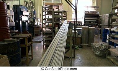 équipement, industriel, parties, indoor.