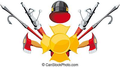équipement, lutte incendie, emblème