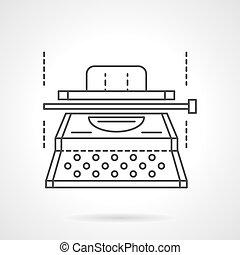 équipement, vecteur, typescript, ligne, plat, icône