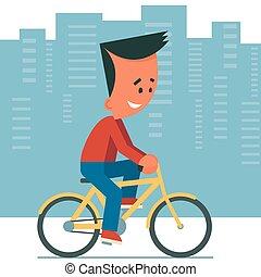 équitation, bicycle.