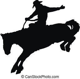 équitation, cheval, rodeo., cow-boy