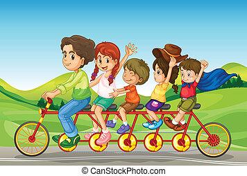 équitation, gosses, vélo