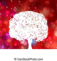 été, arbre, eps, silhouette., fond, 8