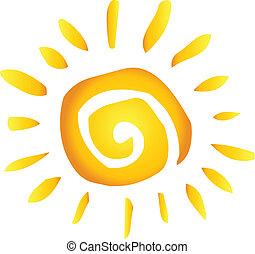 été, chaud, résumé, soleil