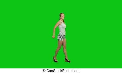 été, girl, danse