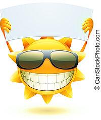 été, heureux, soleil
