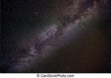 été, laiteux, étoiles, manière, nuit