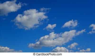 été, nuages mouvement, ciel